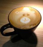 Bear Latte Royalty Free Stock Photos