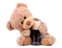 Bear likes beer Stock Photos