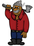 Bear Logger with Axe Cartoon Character Royalty Free Stock Images