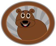 Bear in a logo Stock Photo
