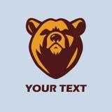 Bear Logo Template Vector Mascot Design Royalty Free Stock Photo