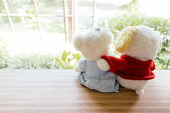 Bear lonely balcony seats in coffee shop Stock Images