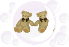 Bear love bear in bubble royalty free stock images