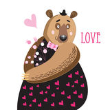 Bear in love Royalty Free Stock Photos