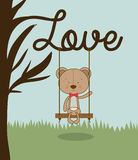 Bear love design Royalty Free Stock Photos