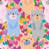 Bear love sleep seamless pattern Royalty Free Stock Photos