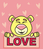 Bear and love Stock Image
