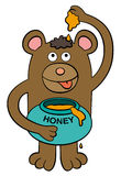 Bear loves honey Royalty Free Stock Photos