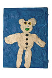 Bear made by child Stock Photos