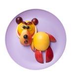 Bear made of fresh fruits Stock Photography