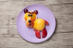 Bear made of fresh fruits Royalty Free Stock Image