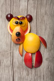 Bear made of fresh fruits Royalty Free Stock Images