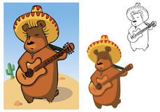 Bear mariachi Stock Image