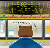 Bear market (CMYK). Allegory for bear market(, CMYK Royalty Free Stock Image