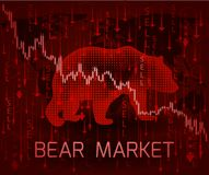 Bear Market concept. royalty free illustration