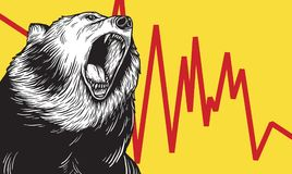Bear Market Icon Symbol Concept vector illustration