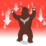 Bear market presents downtrend stock market concept Stock Images