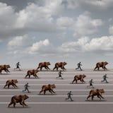 Bear Market Run Stock Photo
