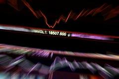 Bear market. Stock market,abstract blur of stock market board Royalty Free Stock Image
