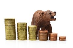 Bear market on stock exchange Royalty Free Stock Images