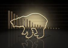 Bear Market Trend Royalty Free Stock Photography