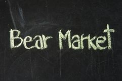 BEAR MARKET words Royalty Free Stock Photo