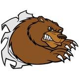 Bear Mascot Attack Stock Photo