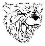 Bear mascot character Royalty Free Stock Images