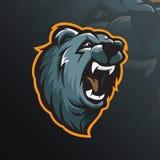 Bear mascot logo design vector with modern illustration concept stock illustration