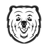 Bear mascot for the sports team. Print on T-shirt Stock Images