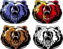 Bear Mascot Vector Logo. Vector Illustration of Bears Mascot Logos Stock Photos