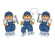 Bear Mechanic Mascot. Vector and Illustration Royalty Free Stock Photo