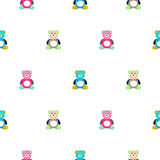 Bear motley kid pattern. Baby bear toy vector seamless pattern for fabric print and apparel Royalty Free Stock Images