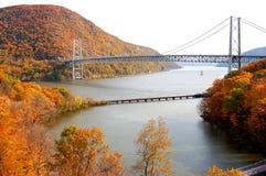 Bear mountain bridge. With autumn mountain in new york Royalty Free Stock Photo