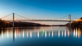 Bear Mountain Bridge at dusk. Stock Image