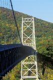 The Bear Mountain Bridge, located in Bear Mountain State Park, New York, spans the Hudson River Royalty Free Stock Image