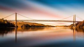 Bear Mountain Bridge after sunset Stock Photo