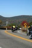Bear Mountain Parkway. Motorcycles on the Bear Mountain Parkway, on a beautiful autumn day Stock Photo