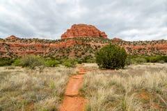 Bear Mountain Trail Sedona Arizona stock photo