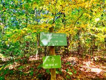 Bear mountain trail sign Royalty Free Stock Photography