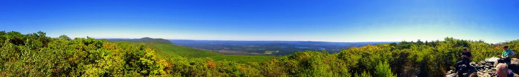 Bear Mountain views. The panorama on Bear Mountain is a prominent peak of the southern Taconic Mountains. It lies within the town of Salisbury, Connecticut, in Royalty Free Stock Image