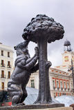 Bear and Mulberry Tree Statue Symbol Madrid Spain Royalty Free Stock Photography