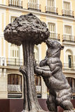 Bear and Mulberry Tree Statue Symbol Madrid Spain Royalty Free Stock Photos