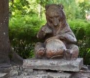 Bear in Ogre. Old Bear monument in Ogre, Latvia Stock Photo
