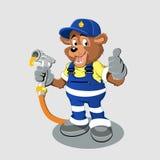 Bear with oil gas pump heating Stock Photos