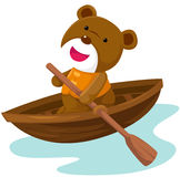 Bear paddling Stock Photo