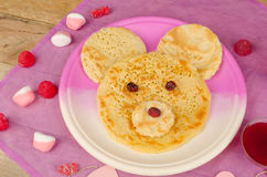 Bear pancakes Royalty Free Stock Photos