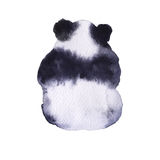 Bear the panda. Isolated on white background. Watercolor illustration Stock Photos