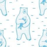 Bear_pattern Royaltyfri Foto