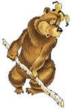 Bear pattern cartoon, folklore Royalty Free Stock Photography